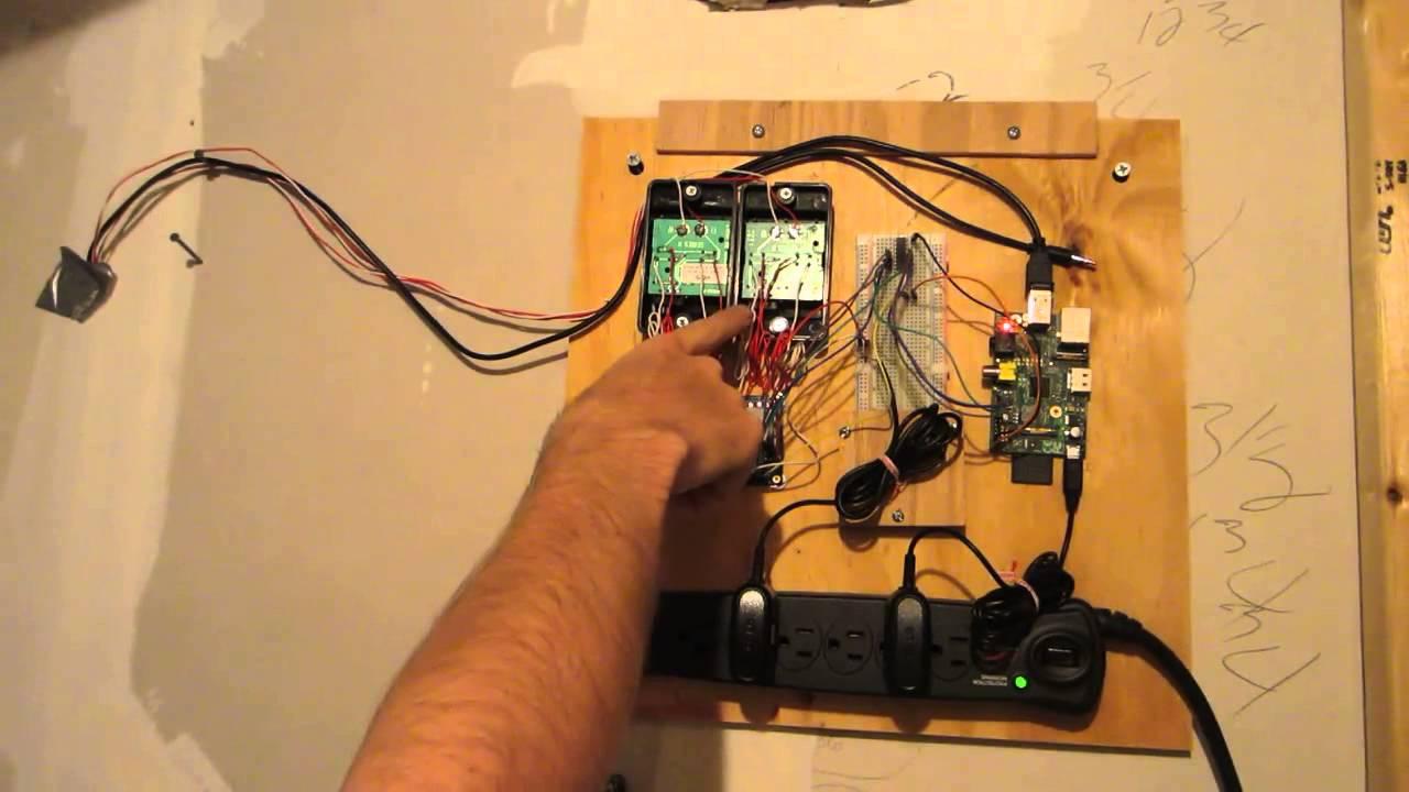 My Raspberry Pi Garage Door Opener Youtube