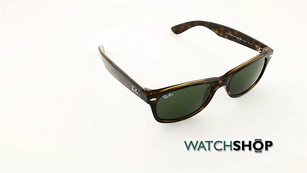 76962494bcf Ray-Ban Men s New Wayfarer Classic Sunglasses (RB2132-902-52) - YouTube
