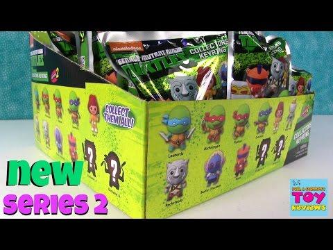 Teenage Mutant Ninja Turtles Series 2 Figural Keyring Blind Bag Opening | PSToyReviews