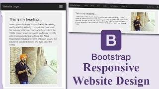 Responsive Website Template Design in Bootstrap with easy steps. (Hindi/Urdu)
