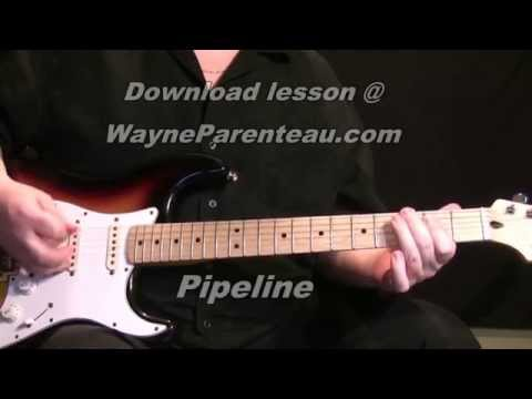 Pipeline The Ventures - Guitar Lesson + Backing Track