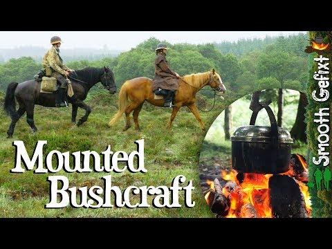 Bushcraft On Horseback - Hammock Camping With Horses And Dog!