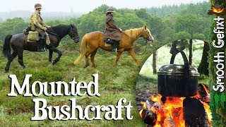 Bushcraft on Horseback - Hammock camping with horses and dog!
