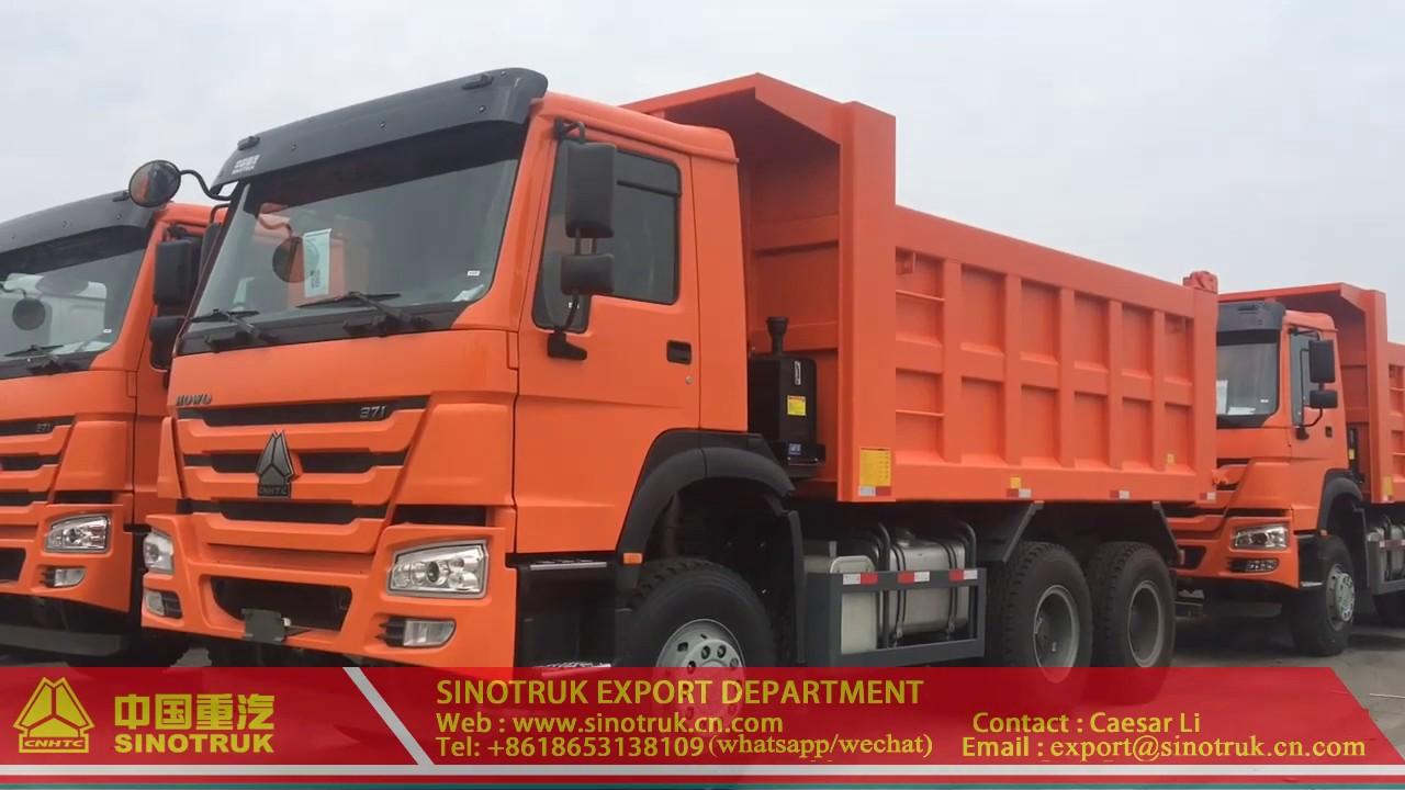 Sinotruck Howo A7 Dump Truck 6x4 371hp Tipper Truck 30t