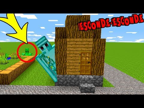 ESCONDA-SE COMO GOLEM DE DIAMANTE (HIDE N SEEK MORPH MINECRAFT)