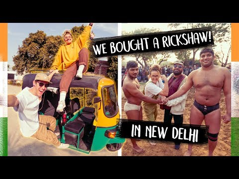 India is CRAZY! Buying a Rickshaw in New Delhi 🇮🇳