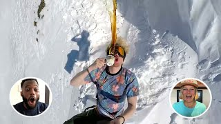 Snowboarder Flips With A Full Cup Of Coffee   Athletes React