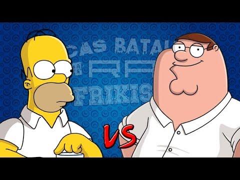 Homer Simpson vs Peter Griffin. Épicas Batallas de Rap del Frikismo | Keyblade ft. Zarcort