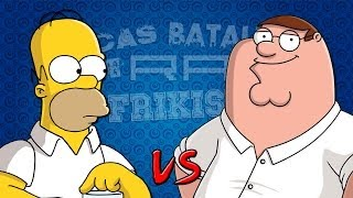Repeat youtube video Homer Simpson vs Peter Griffin. Épicas Batallas de Rap del Frikismo | Keyblade ft. Zarcort