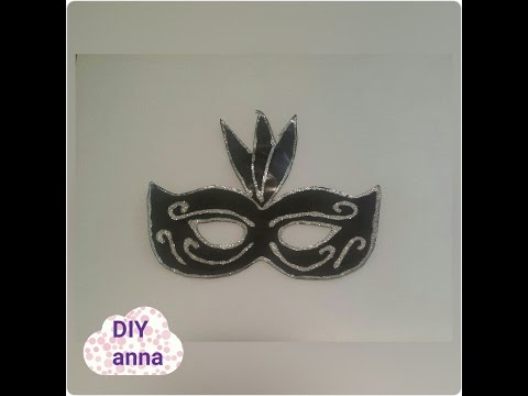 masquerade halloween glitter decorations mask DIY paper craft ideas tutorial / uradi sam
