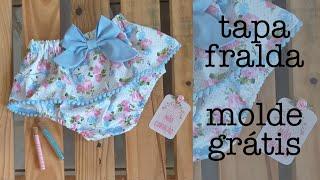 Tapa fralda – molde grátis