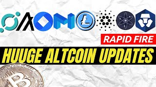 HUGE CRYPTOCURRENCY NEWS | Litecoin, Crypto.com, Cardano, OmiseGo, Matic Network, Algorand