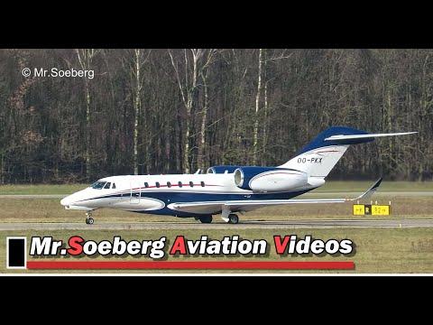 Cessna 750 Citation X, OO-PKX, Air Service Liege, Take-Off