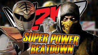 SUPER POWER BEATDOWN DA ZUERA - WHITE RANGER VS SCORPION [WWE 2K17 ZUERAS]