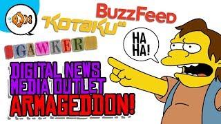 DIGITAL NEWS MEDIA ARMAGEDDON! Machinima Closes! Gawker Returns?!