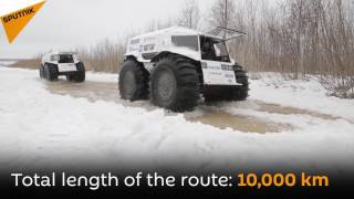 'To the East': 10,000 km Trip Across Russia on Off-road SHERP Vehicles