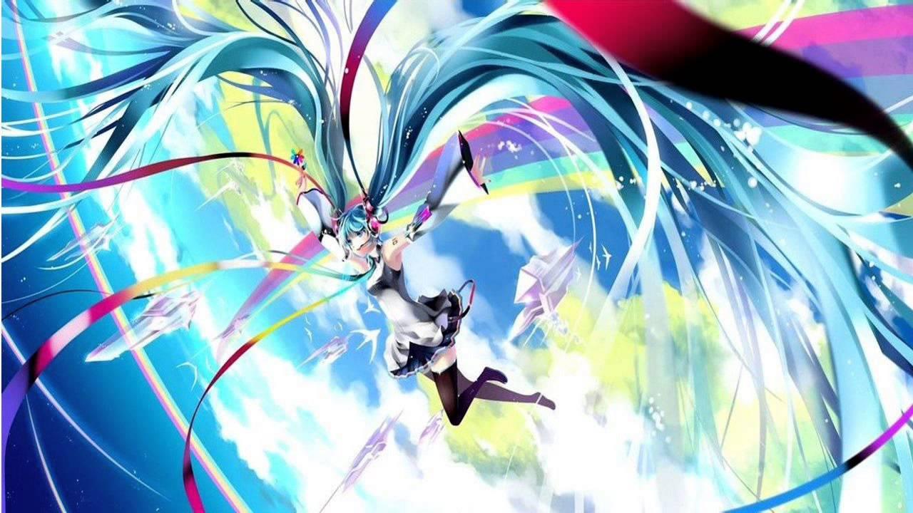 Anime Dj Girl Wallpaper Nightcore Miku Miku Dj Rainbow Girl S3rl Uk Hardcore
