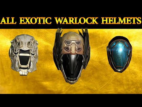 Destiny all exotic warlock helmets review comparison youtube