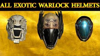 Destiny: All EXOTIC Warlock Helmets Review/Comparison