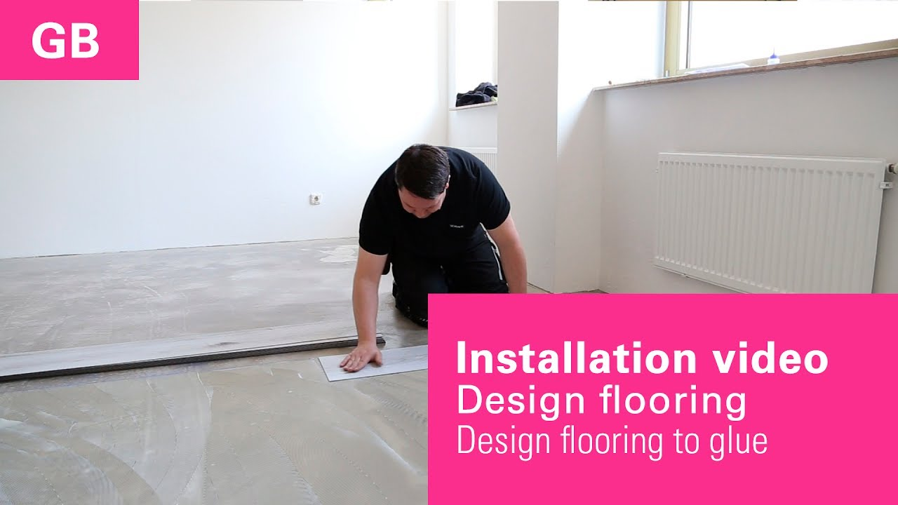 installation video laying instruction vinyl flooring to glue from wineo gb