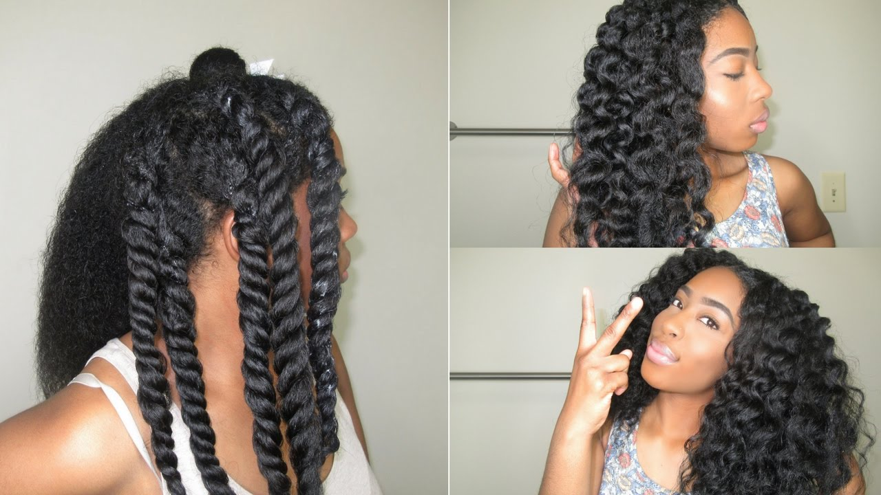 Perfect 3 Strand Twist Out On Natural Hair
