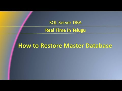 How To Restore Master Database