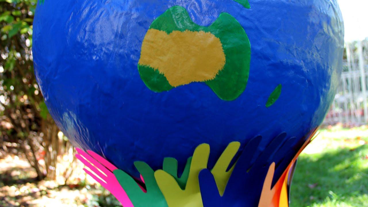 Assez Fabriquer un globe terrestre pour le Jour de la Terre - YouTube SQ06