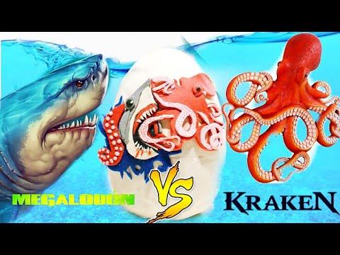 Huevo Sorpresa Gigante Megalodon Vs Kraken Monstruos Del ...