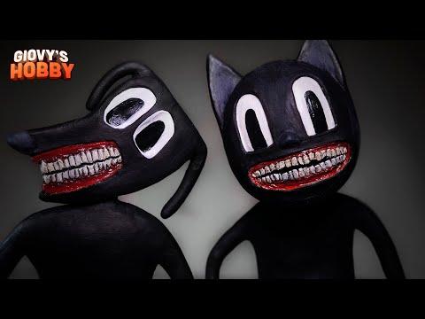 Cartoon Cat \u0026 Cartoon Dog ➤ Trevor Henderson Creatures ★ Polymer Clay Tutorial