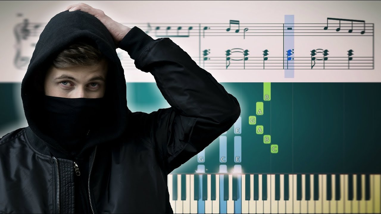 Berühmt Alan Walker - Faded - Piano Tutorial + SHEETS - YouTube PA93