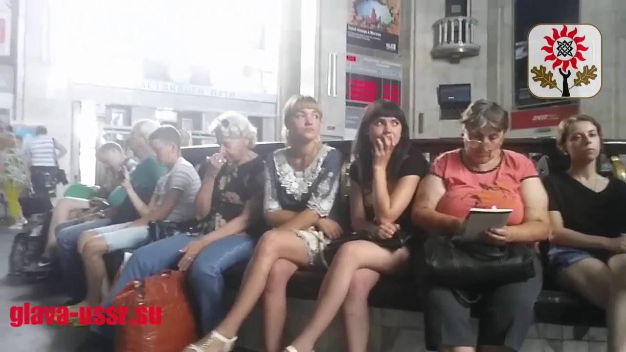 Тренировка привокзальных полицаев рф в Курске гражданином СССР