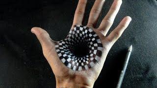 INCREIBLE!! Ilusión Óptica sobre mi mano | Hoyo/Agujero 3D | Speed Drawing | Esteban Art