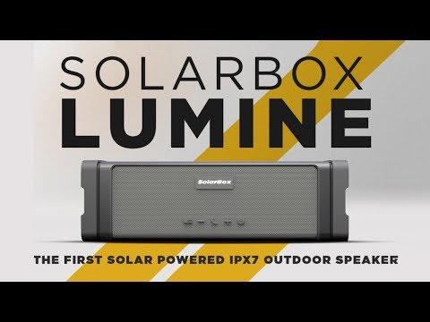Solarbox Lumine Speaker | Solar Charging, Waterproof, Dust proof, Shockproof, Rugged Proof Speaker