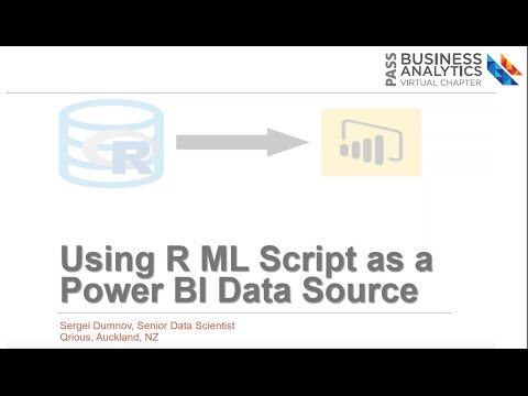 Using R Machine Learning Script as a Power BI Desktop Data Source