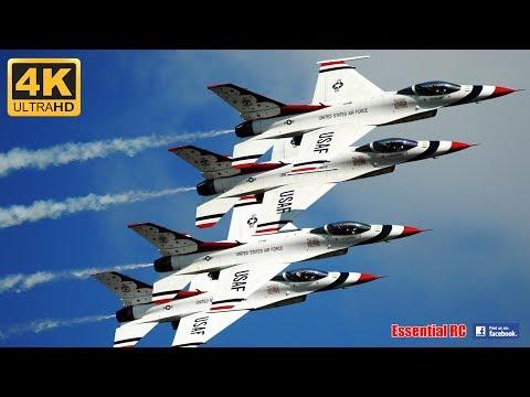 🌟 USAF F-16 THUNDERBIRDS 🌟 Demonstration Team at RIAT 2017 [*UltraHD and 4K*]