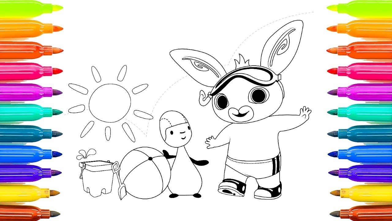 How To Coloring Pages For Children Bing Bunny Youtube