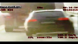Szybki pościg krajową 3'ką za kradzionym Audi A6 / High speed police chase