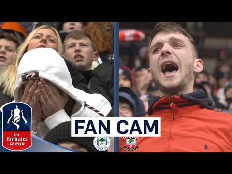 The Emotions of an FA Cup Quarter Final | Fan Cam | Wigan 0-2 Southampton | Emirates FA Cup 2017/18