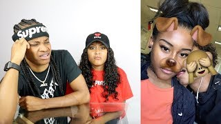 REACTING TO GIRLFRIEND OLD PHOTOS OF HER AND EX!!
