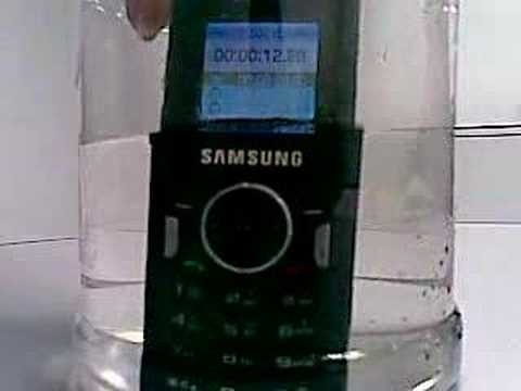 Samsung SGH-M110-ToughPhone test-Soak in water