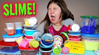 THE WEIRDEST AND GROSSEST SLIME COLLECTION IN THE WORLD!