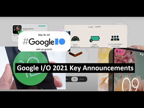 Six announcements from Google I/O