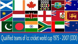 Qualified teams of Icc cricket world cup 1975 - 2007.