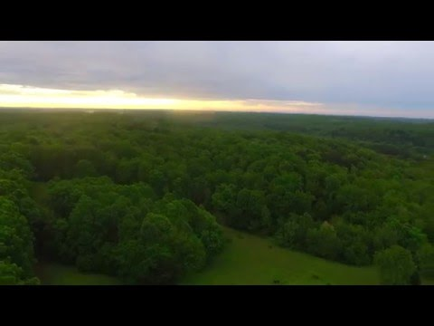 Aerial View of Colorful SunSet Between Storms in Tennessee with DJI Phantom 3