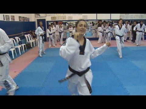 Lebanon's female taekwondo Olympian