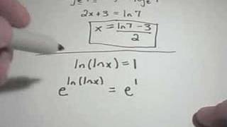 Properties of Logarithms  Part 2  Solving Logarithmic Equations