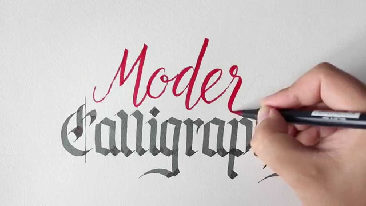 How to combine modern and traditional calligraphy styles youtube