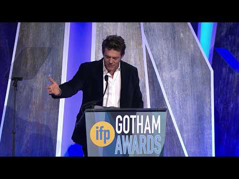 Jason Blum accepting a Gotham Tribute at the 2017 IFP Gotham Awards