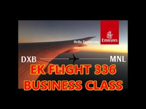Emirates EK336 Dubai to Manila Boeing 777 300ER Business Class – This is Our Philippines