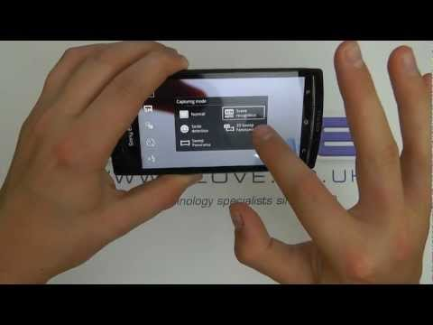 Sony Ericsson Xperia Arc S Camera Sweep Demo